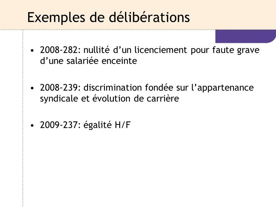 Exemples de délibérations