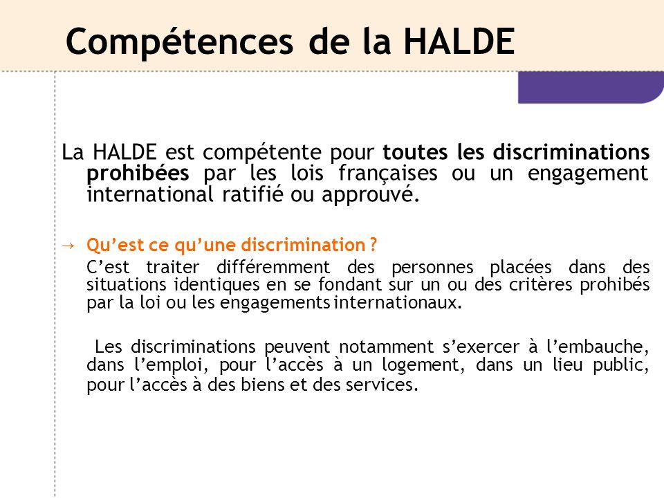 Compétences de la HALDE