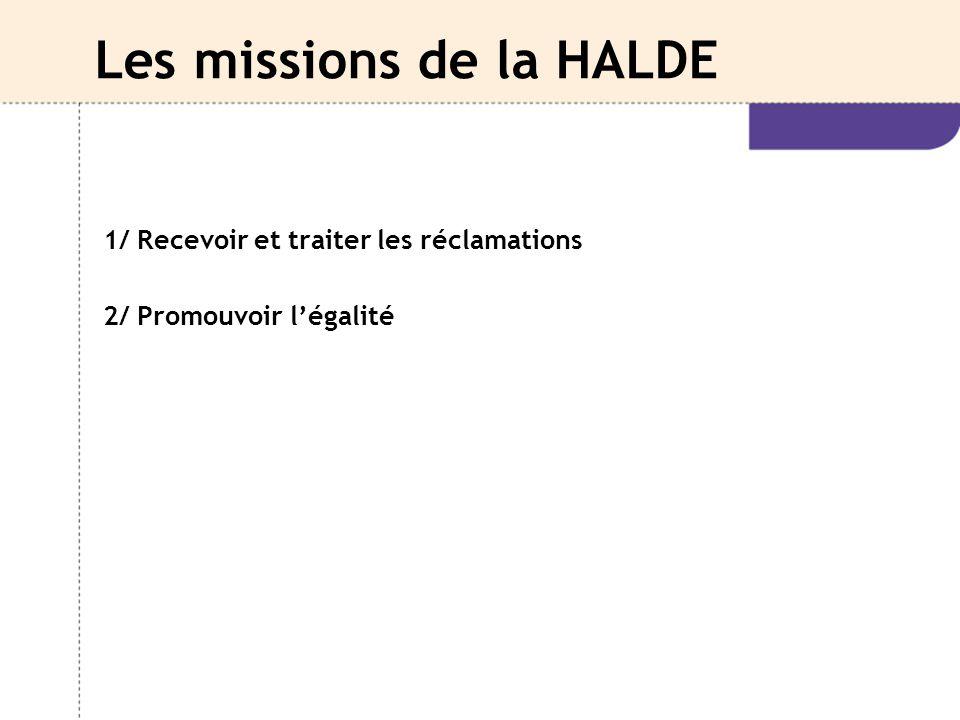 Les missions de la HALDE