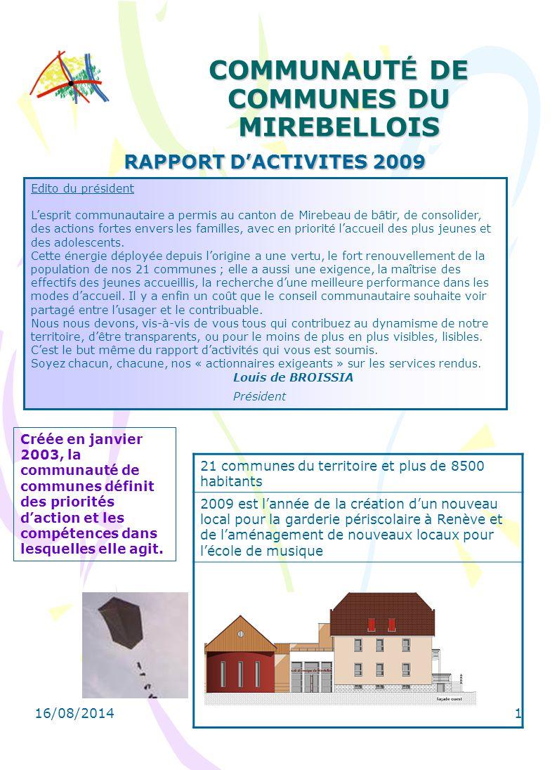 COMMUNAUTÉ DE COMMUNES DU MIREBELLOIS