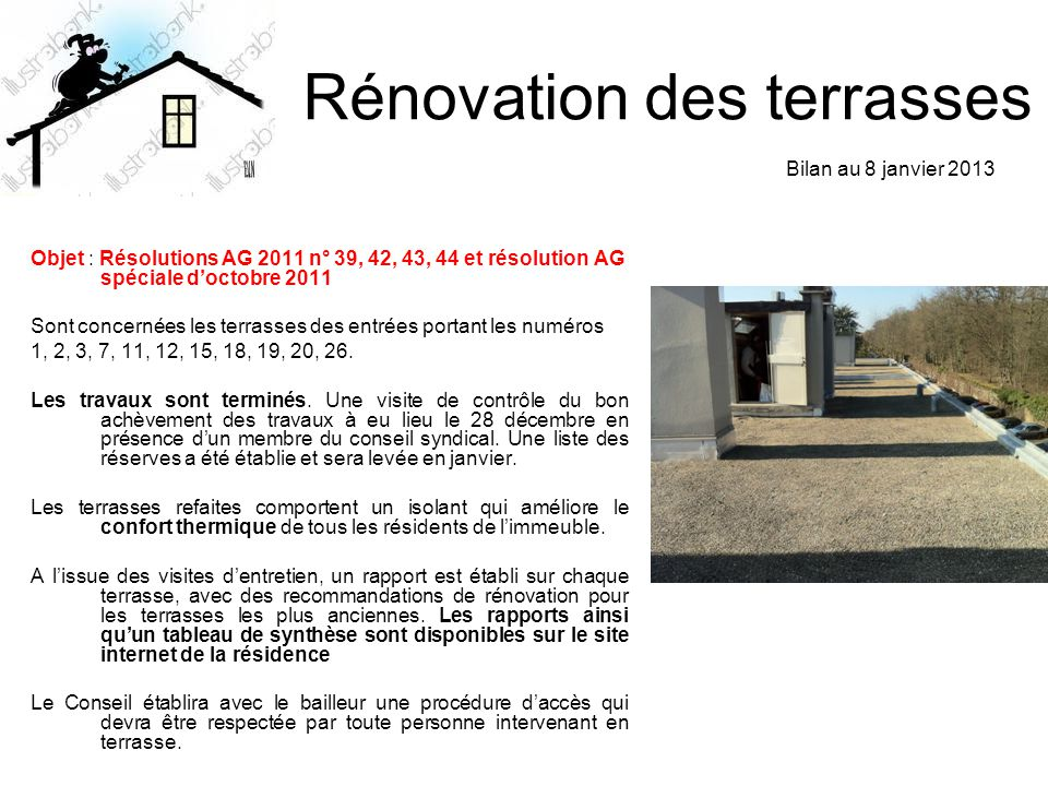 Rénovation des terrasses