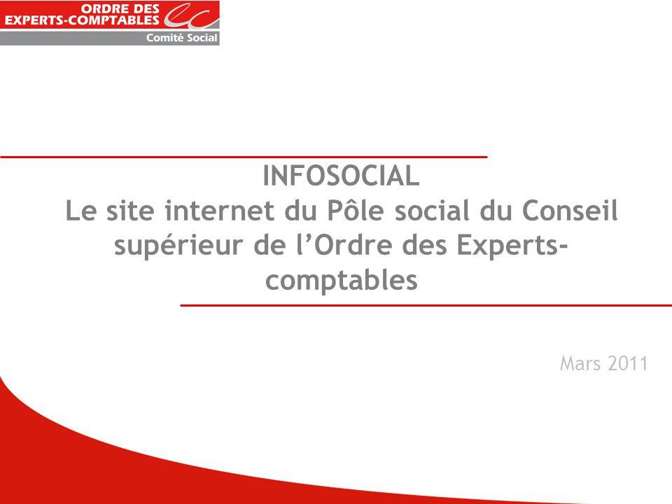 INFOSOCIAL Le site internet du Pôle social du Conseil supérieur de l'Ordre des Experts-comptables