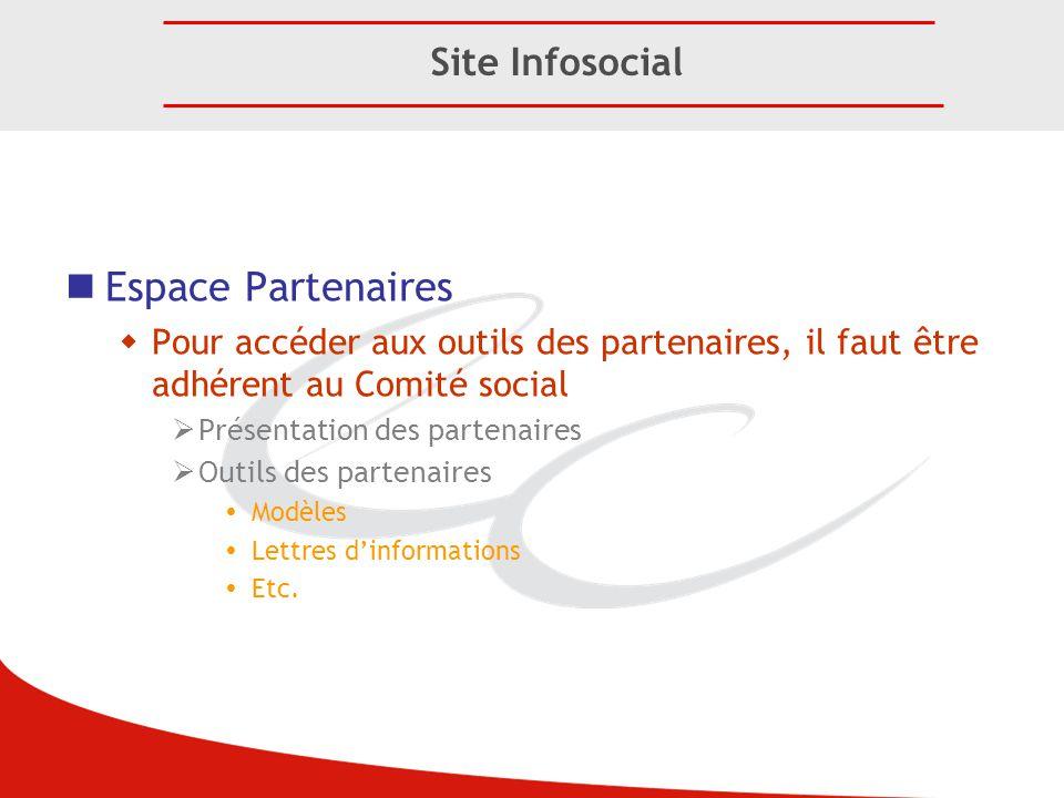 Espace Partenaires Site Infosocial