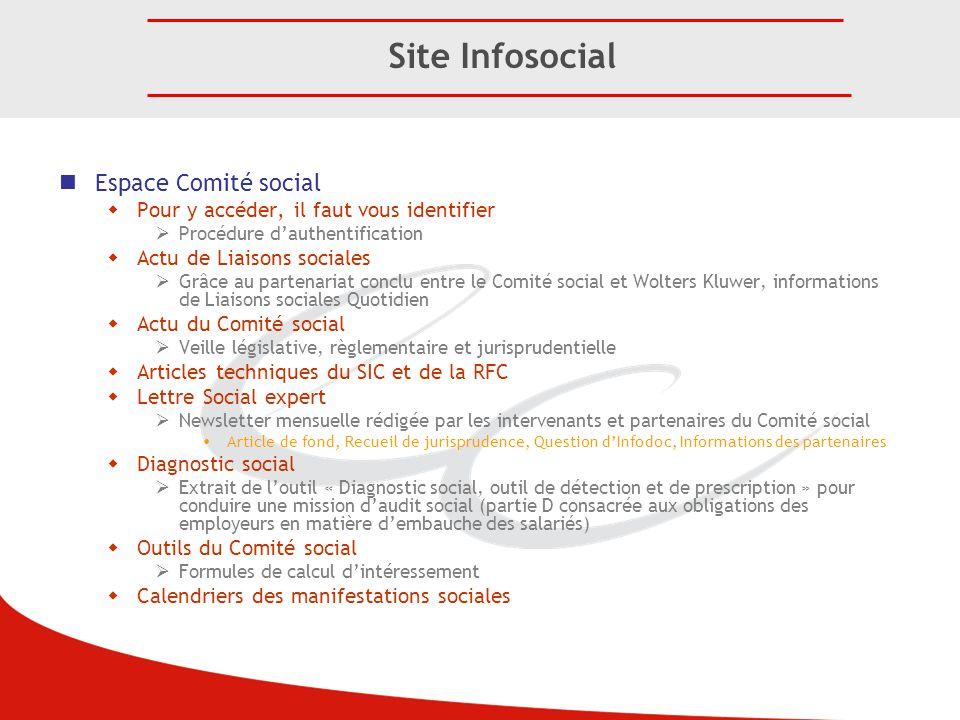 Site Infosocial Espace Comité social