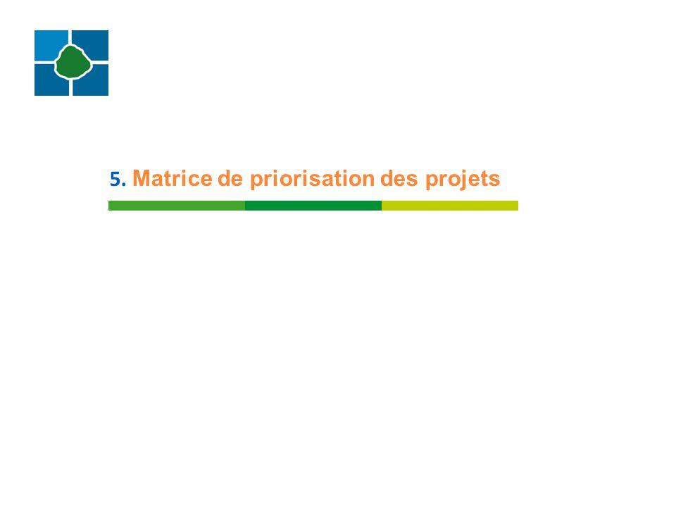5. Matrice de priorisation des projets