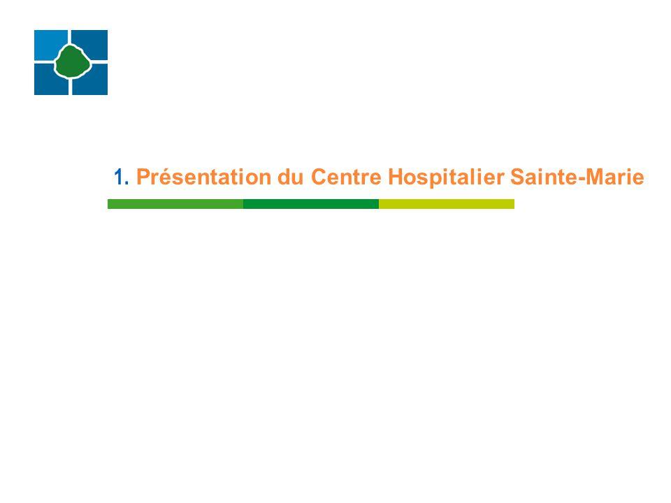 1. Présentation du Centre Hospitalier Sainte-Marie