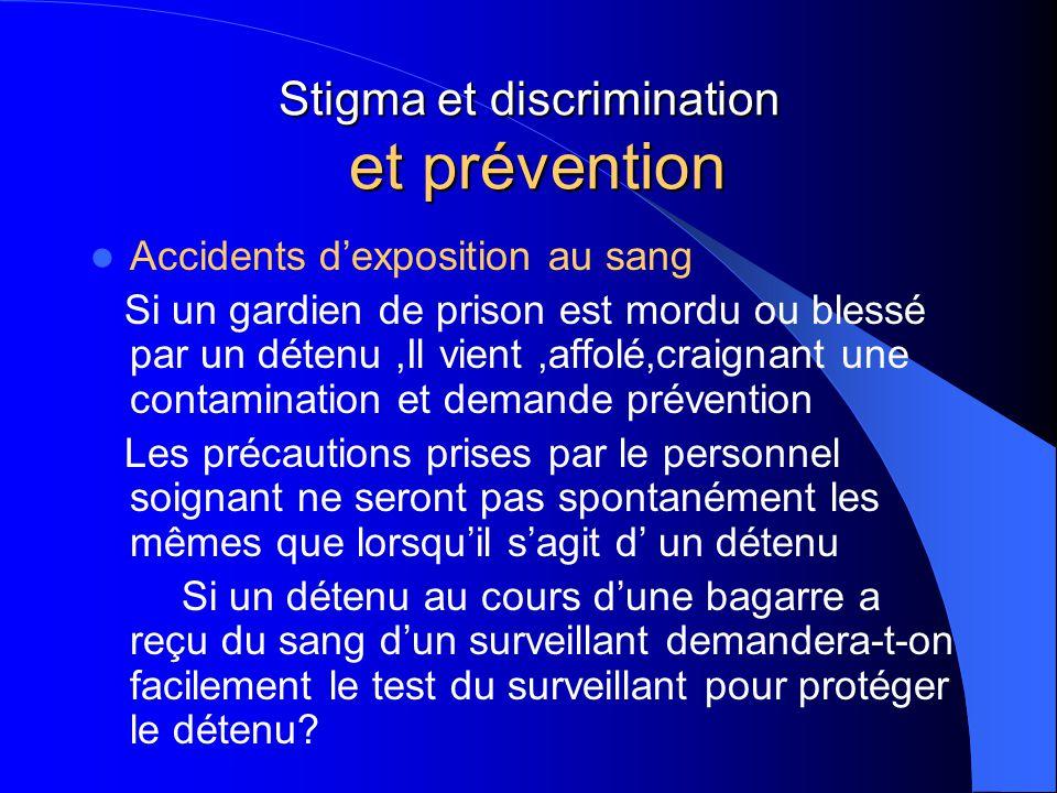 Stigma et discrimination et prévention