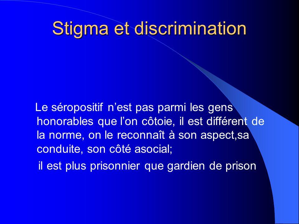 Stigma et discrimination