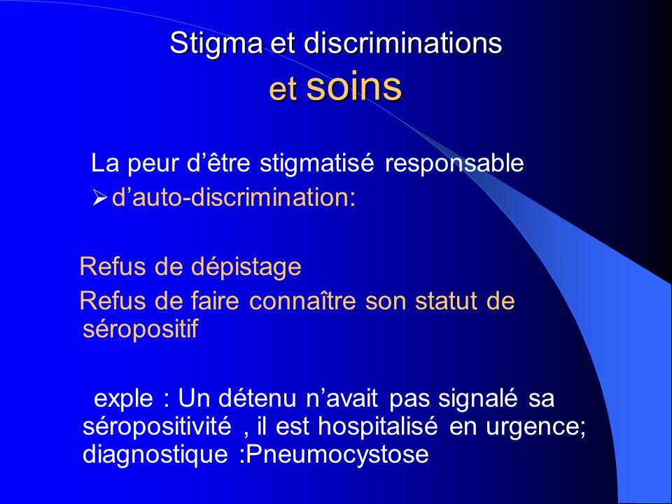 Stigma et discriminations et soins