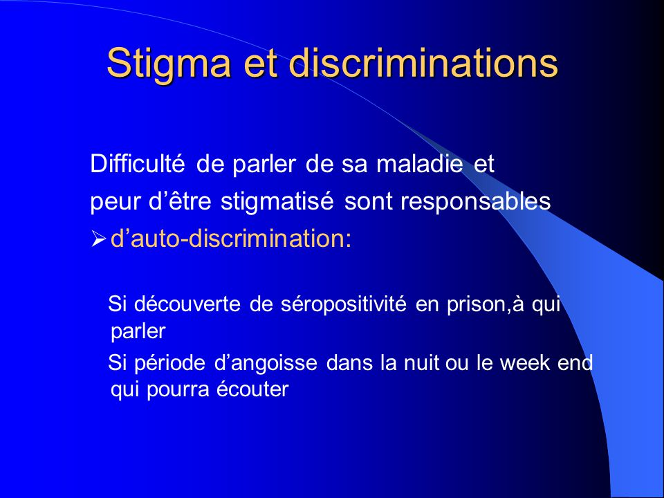 Stigma et discriminations