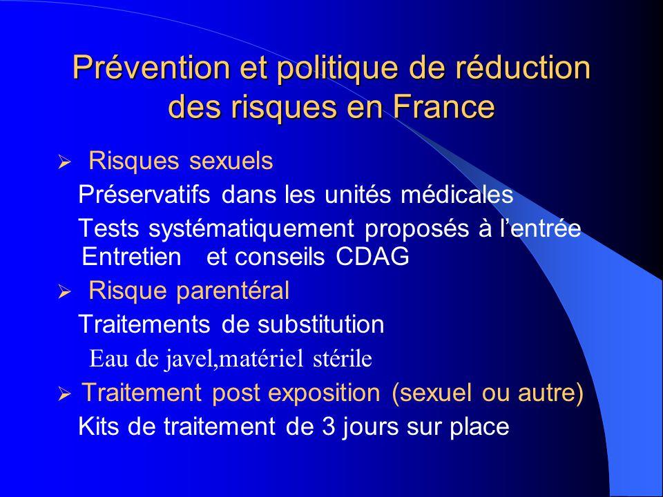 Prévention et politique de réduction des risques en France