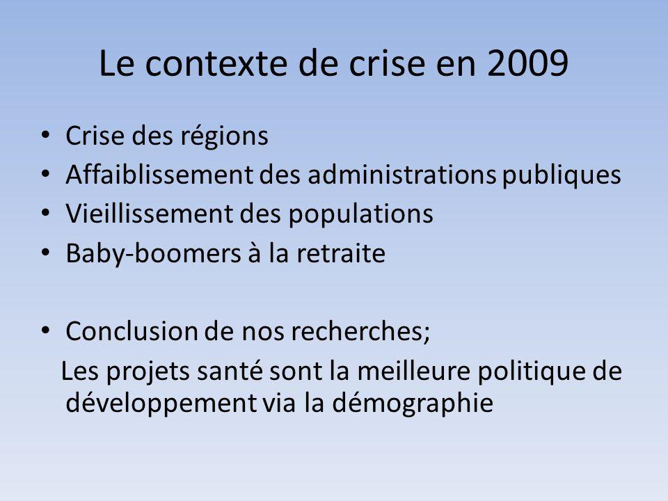 Le contexte de crise en 2009 Crise des régions