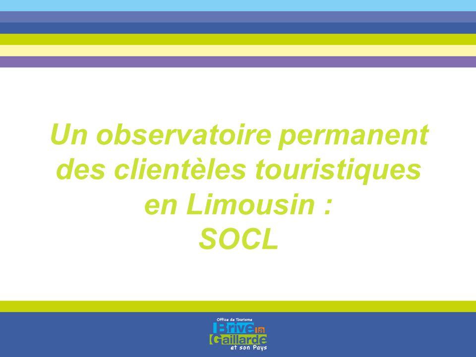 Un observatoire permanent des clientèles touristiques en Limousin : SOCL