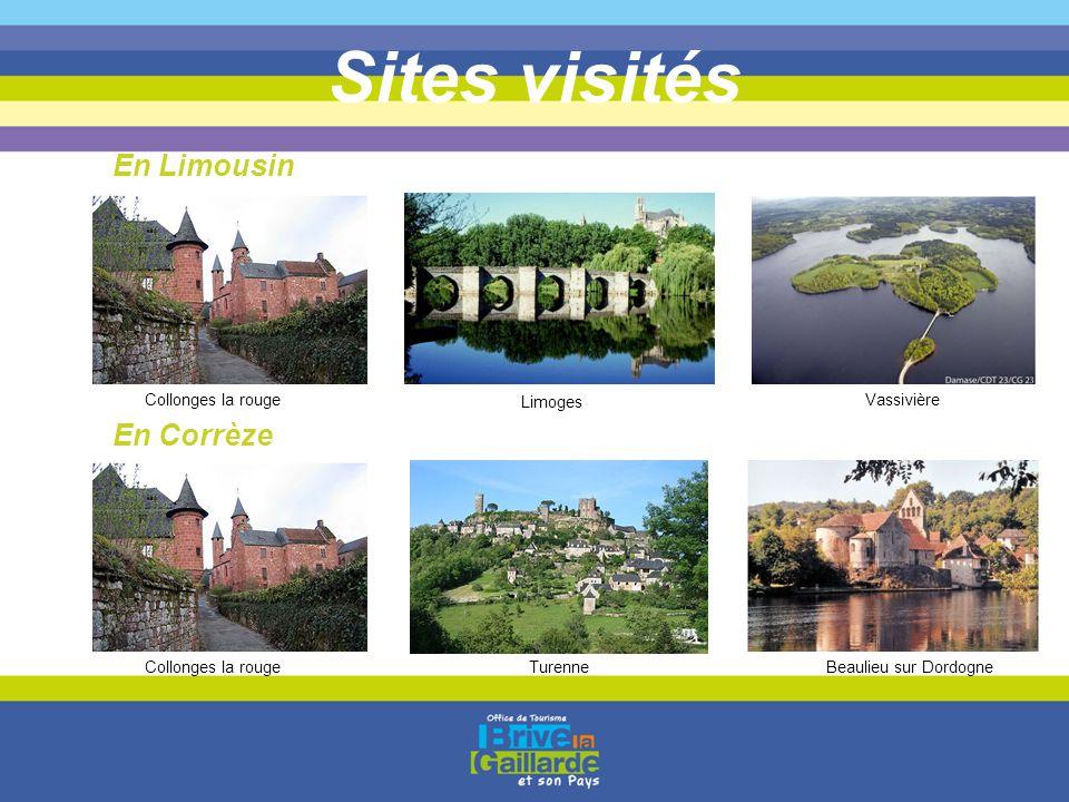 Sites visités En Limousin En Corrèze Collonges la rouge Limoges