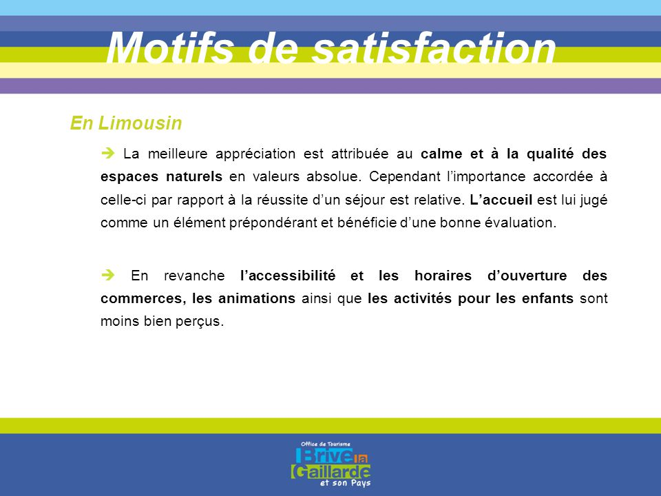 Motifs de satisfaction