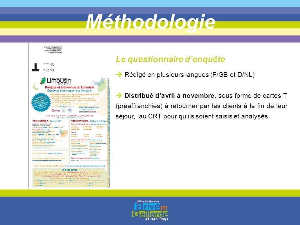 Méthodologie Le questionnaire d'enquête