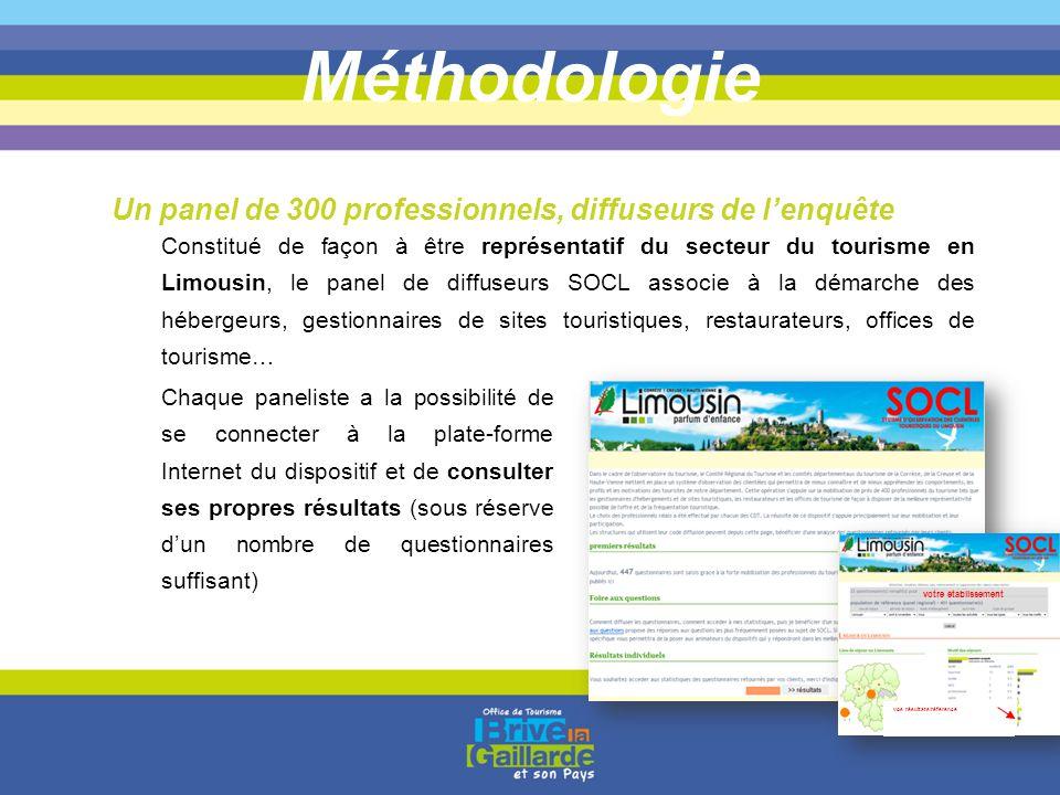 Méthodologie Un panel de 300 professionnels, diffuseurs de l'enquête
