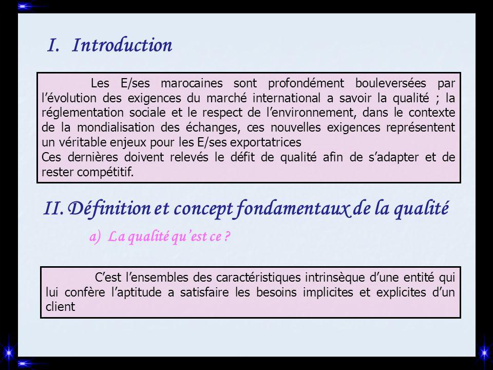 Définition et concept fondamentaux de la qualité