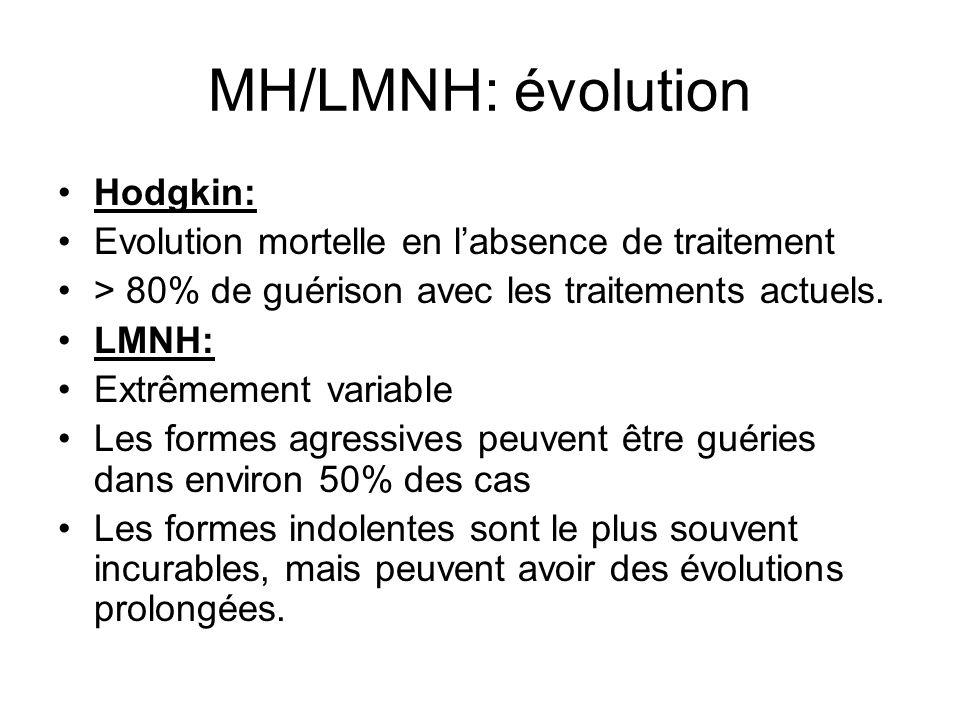 MH/LMNH: évolution Hodgkin: