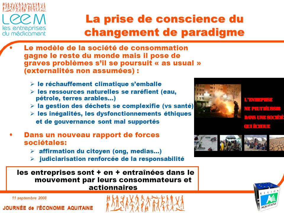 La prise de conscience du changement de paradigme