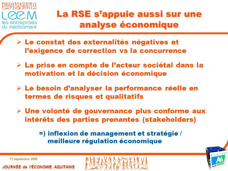 La RSE s'appuie aussi sur une analyse économique