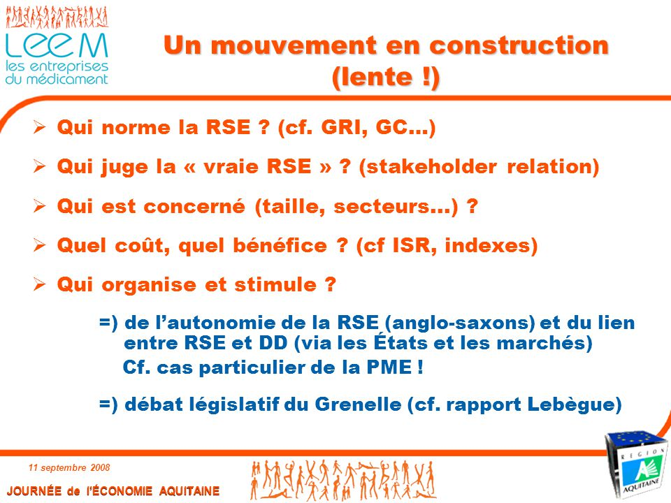 Un mouvement en construction (lente !)