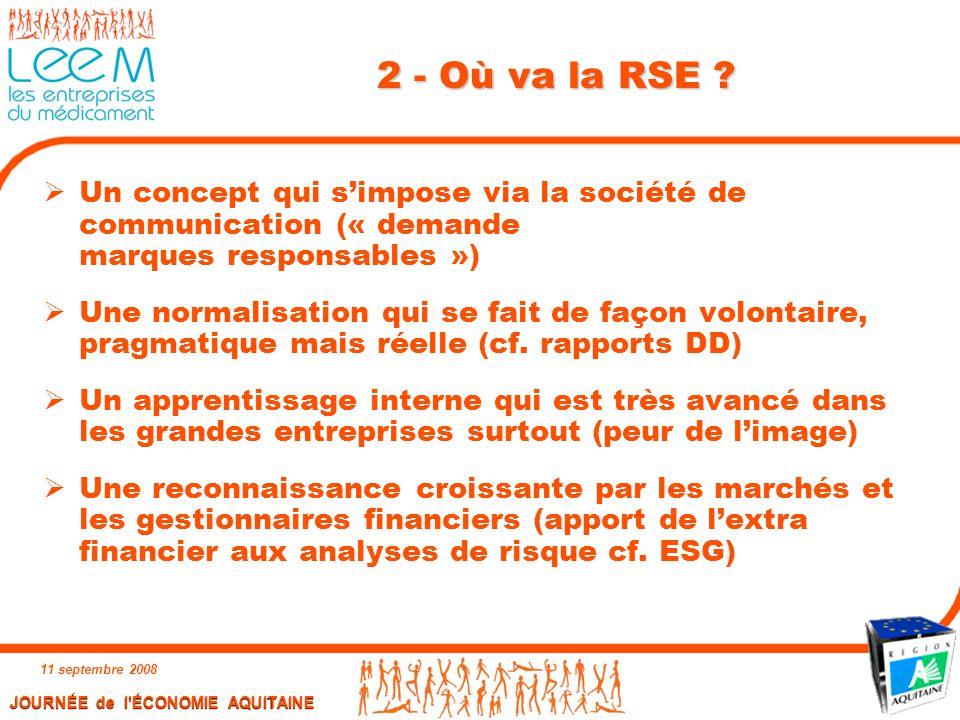2 - Où va la RSE Un concept qui s'impose via la société de communication (« demande marques responsables »)