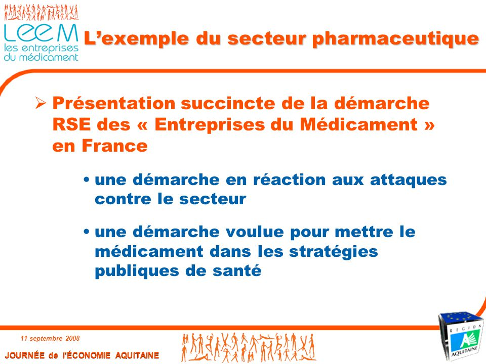 L'exemple du secteur pharmaceutique