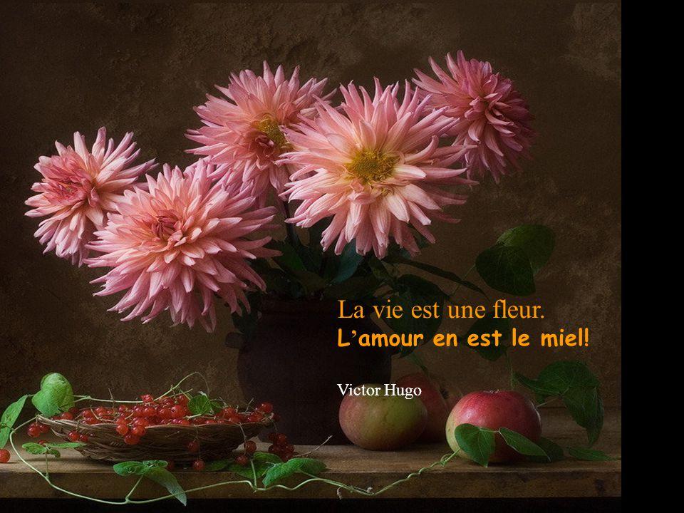 La vie est une fleur. L'amour en est le miel! Victor Hugo