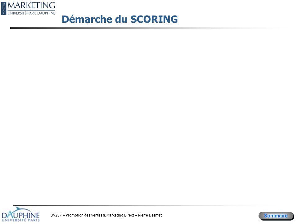 Démarche du SCORING