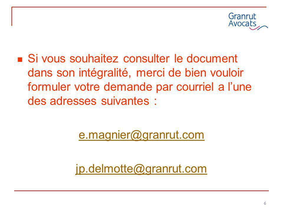 Si vous souhaitez consulter le document dans son intégralité, merci de bien vouloir formuler votre demande par courriel a l'une des adresses suivantes :