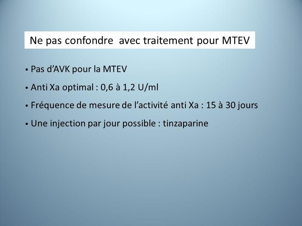 Ne pas confondre avec traitement pour MTEV