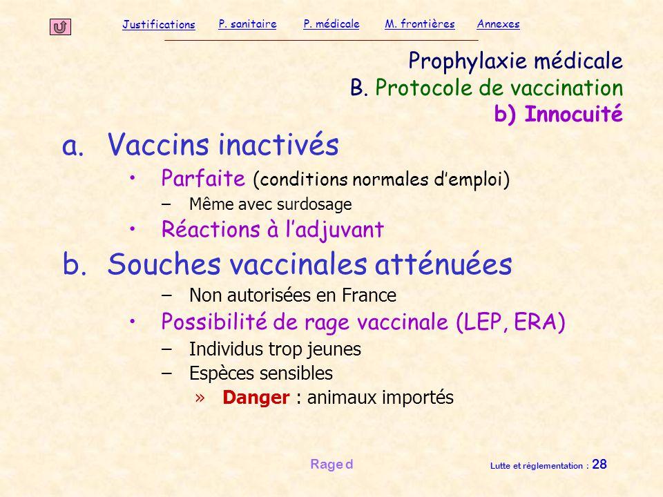 Prophylaxie médicale B. Protocole de vaccination b) Innocuité