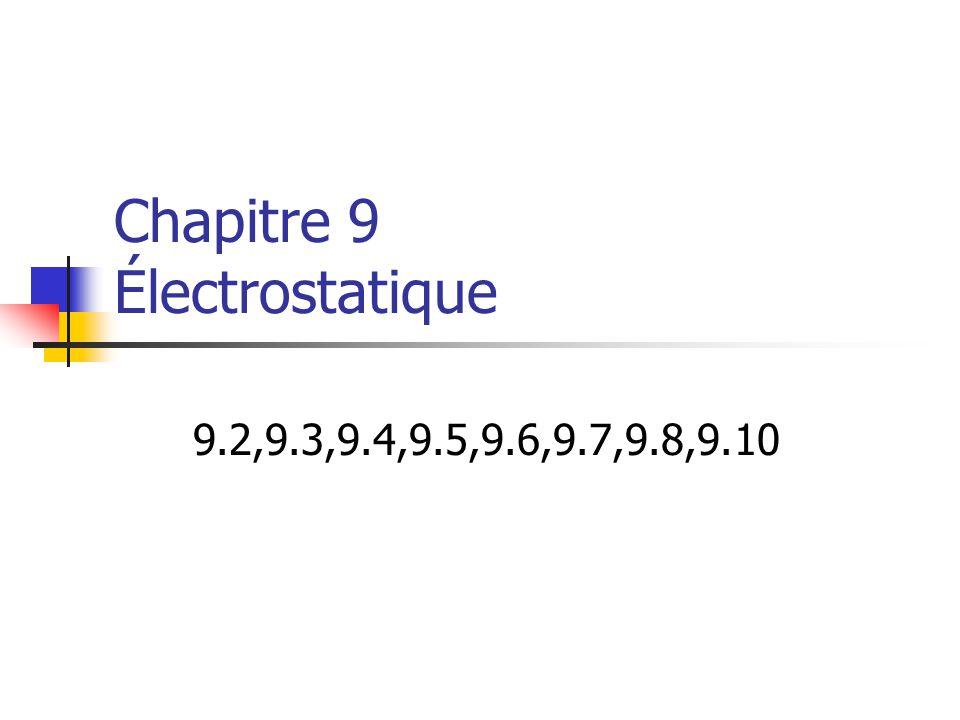 Chapitre 9 Électrostatique