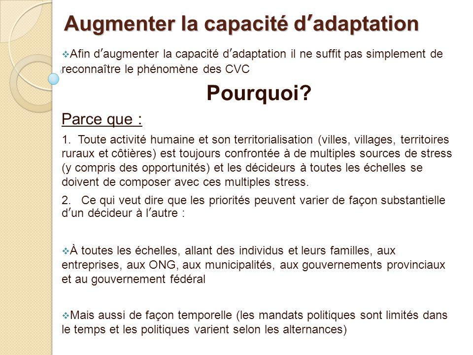 Augmenter la capacité d'adaptation