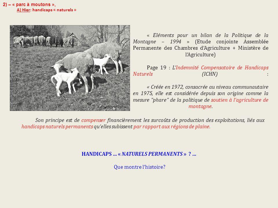 HANDICAPS … « NATURELS PERMANENTS » …