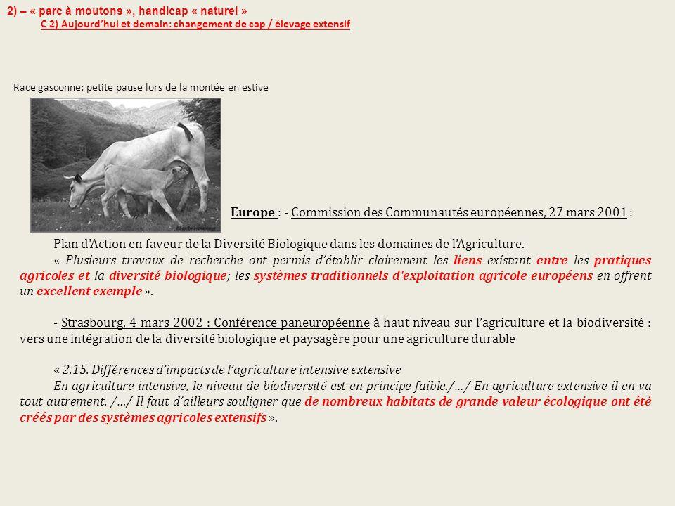 Europe : - Commission des Communautés européennes, 27 mars 2001 :