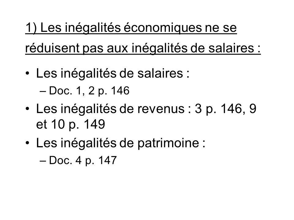Les inégalités de salaires :