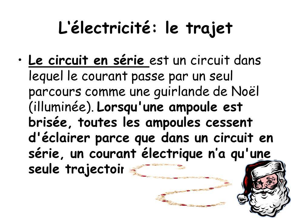 L'électricité: le trajet