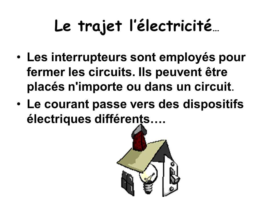 Le trajet l'électricité…