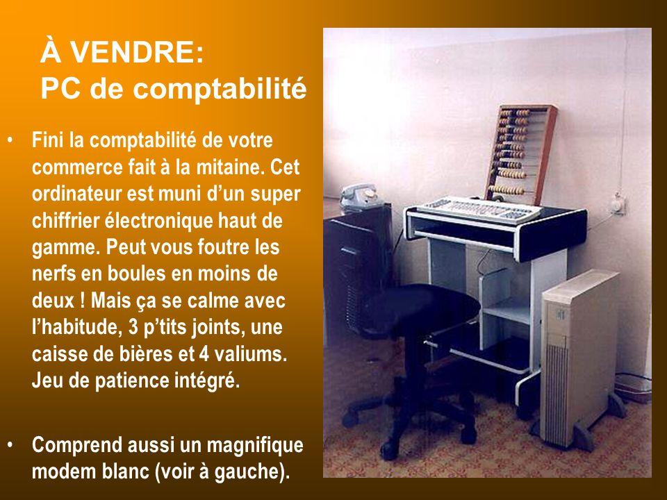 À VENDRE: PC de comptabilité