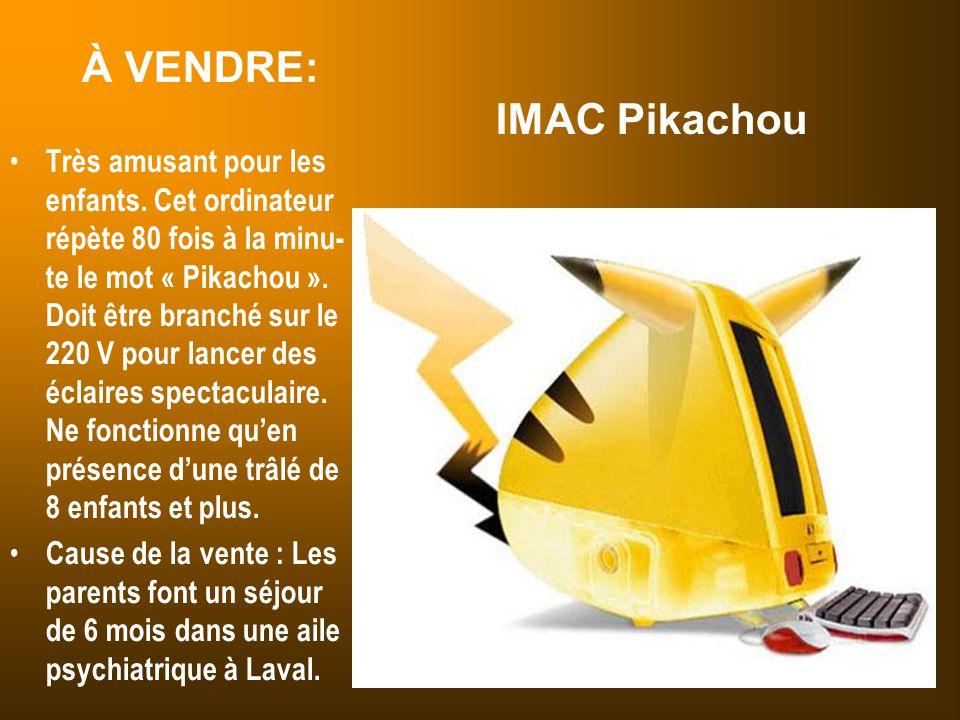 À VENDRE: IMAC Pikachou
