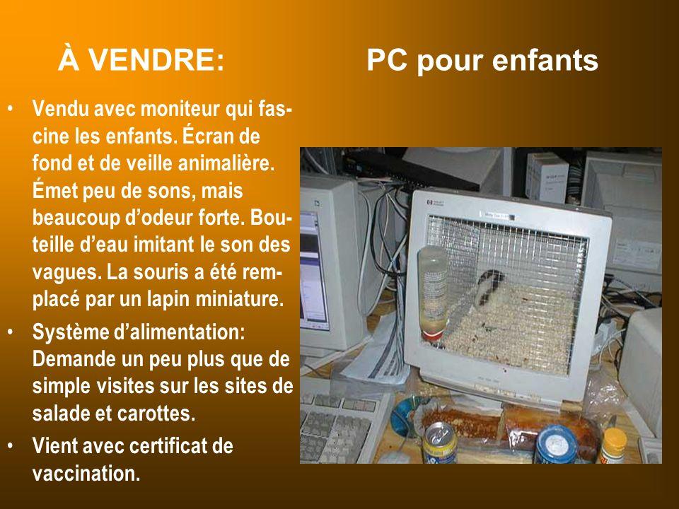 À VENDRE: PC pour enfants