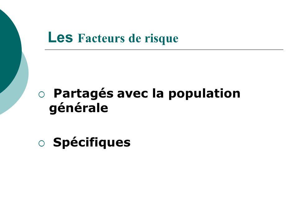 Les Facteurs de risque Partagés avec la population générale