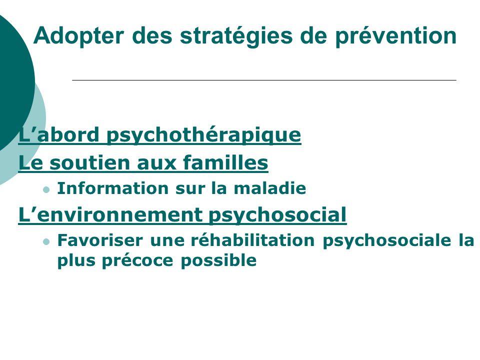 Adopter des stratégies de prévention