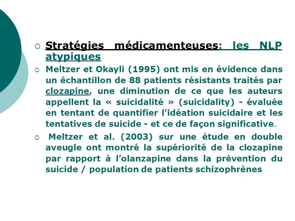 Stratégies médicamenteuses: les NLP atypiques