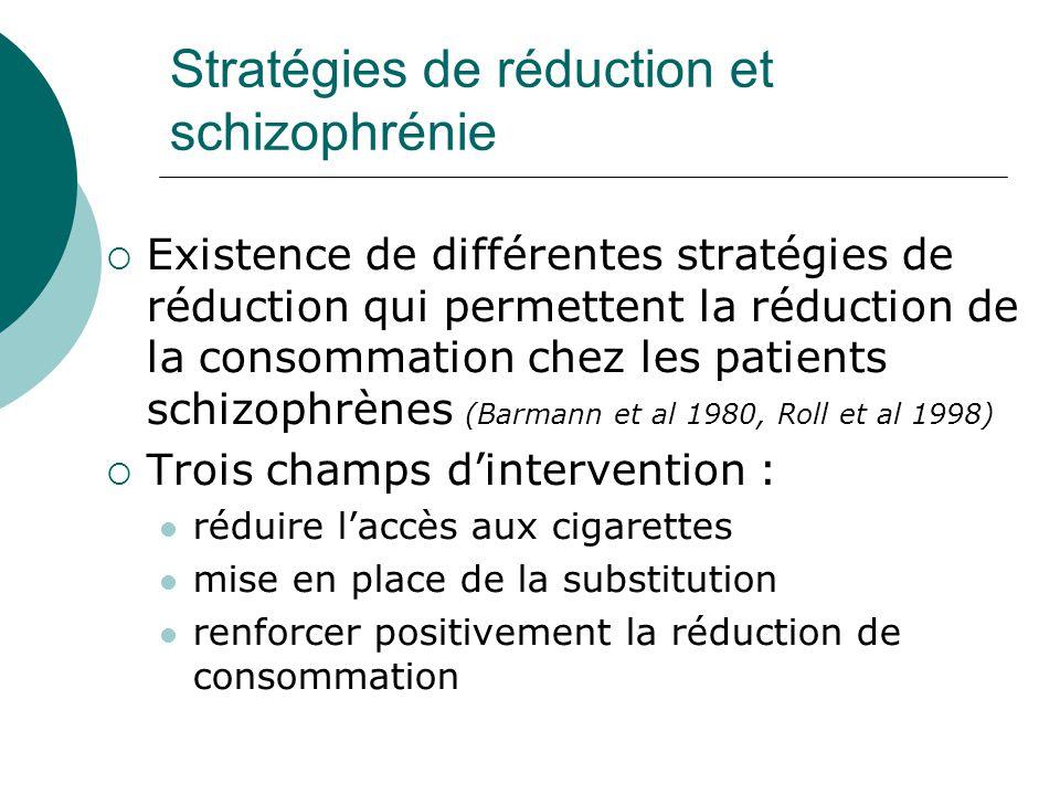 Stratégies de réduction et schizophrénie