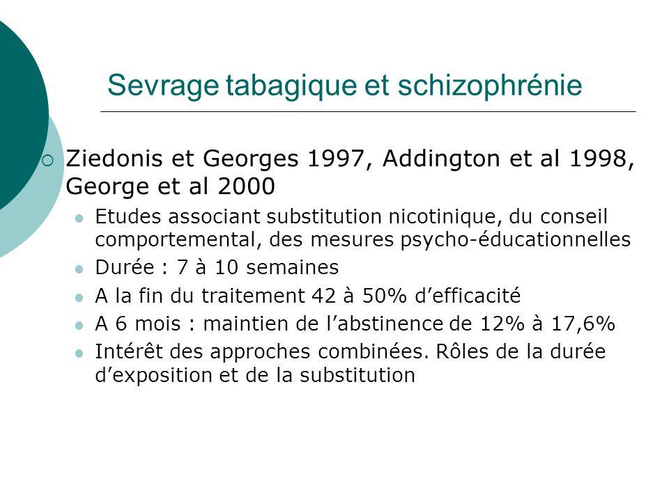 Sevrage tabagique et schizophrénie