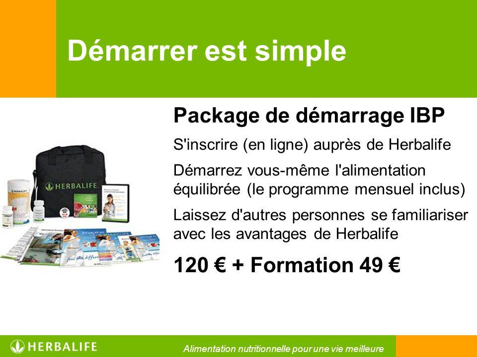 Démarrer est simple Package de démarrage IBP 120 € + Formation 49 €