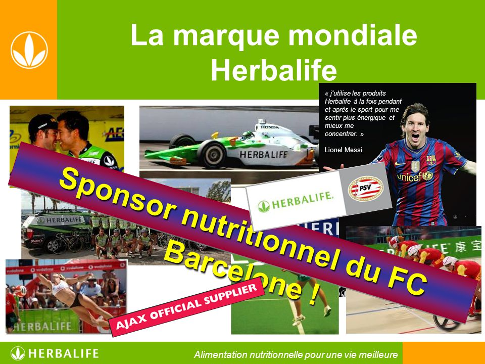La marque mondiale Herbalife Sponsor nutritionnel du FC Barcelone !